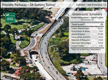 Presidio Parkway Phase I: Southbound Battery Tunnel