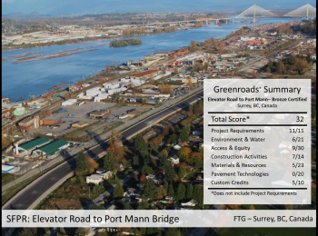 SFPR: Elevator Road to Port Mann Bridge