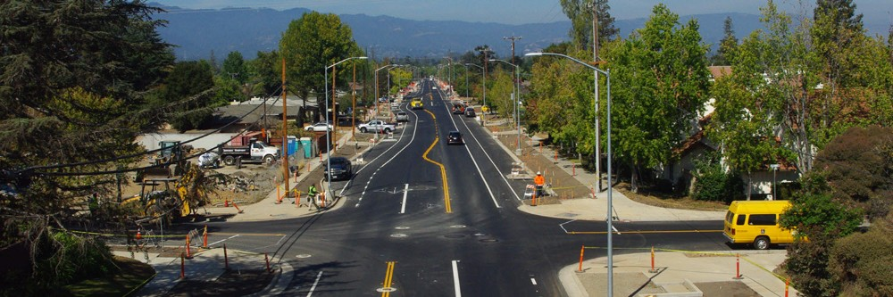 Silver Certified West Hacienda Avenue in Campbell, CA used full-depth reclamation to reuse the street in place, saving 50% of the cost and lowering the footprint by 33%.