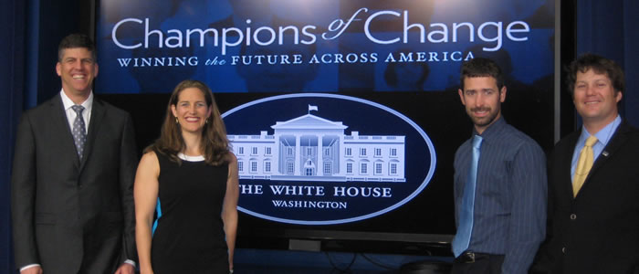 Greenroads was recognized by the White House in May 2013 as a Champion of Change.